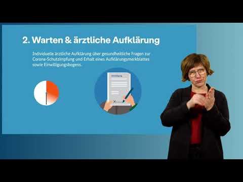 Impfzentren Infofilm - in Deutscher Gebärdensprache