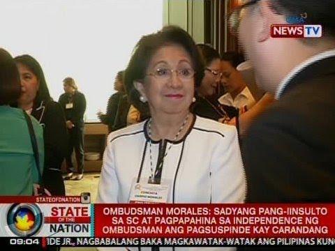 SONA: Morales, hindi raw ipatutupad ang suspension order sa kanyang deputy na si Carandang