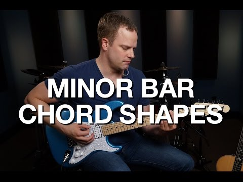 Minor Bar Chord Shapes - Rhythm Guitar Lesson #6