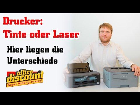 Drucker: Tinte oder Laser?