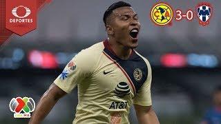 América se impone ante Rayados | | América 3 - 0 Monterrey | Apertura 2018 - J4 | Televisa Deportes