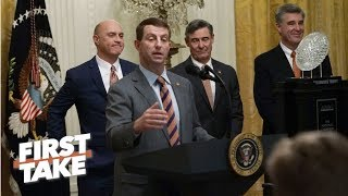 Was Clemson being served fast food at the White House disrespectful? | First Take
