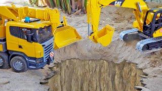 [30분] 포크레인 덤프트럭 중장비 자동차 장난감 트럭놀이 Excavator Dump Truck Car Toy Play