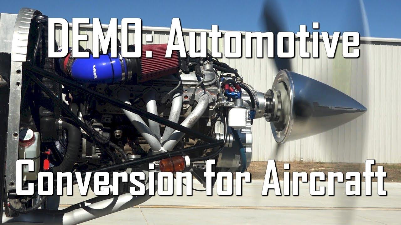 Aviation Vans Rv Aircraft V8 Auto Engine Demo With Psru