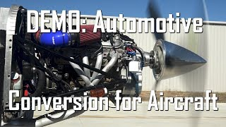 RV Aircraft Video - V8 Auto Engine DEMO with PSRU's Geared Drive for Aircraft