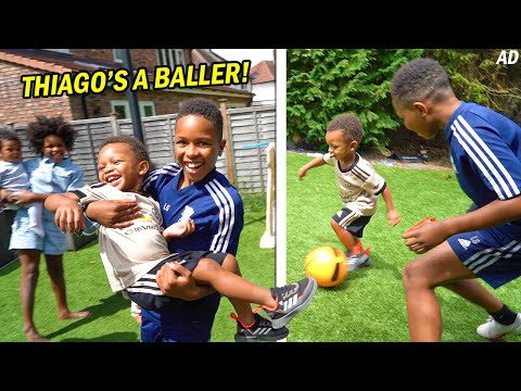 MY LITTLE BROTHER THIAGO IS A BALLER!!