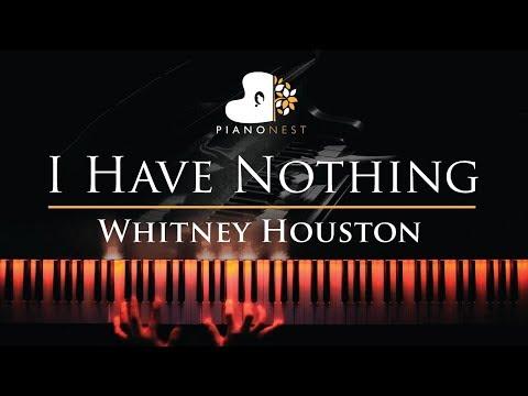 Whitney Houston - I Have Nothing - Piano Karaoke / Sing Along Cover with Lyrics