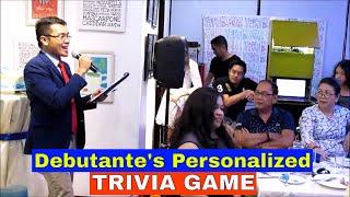 Debutante's Personalized Trivia Game