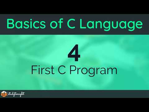 Writing your First C Program and Running it – C Programming Tutorial for Beginners