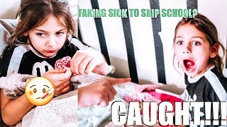 Willow FAKING SICK to SKIP school | BUSTED By Mom | CAUGHT ON HIDDEN CAMERA