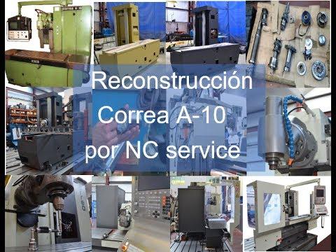 Reconstrucción fresadora CORREA A10 por NC Service