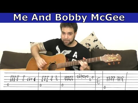 Fingerstyle Tutorial: Me And Bobby Mcgee - Guitar Lesson W/ Tab ...