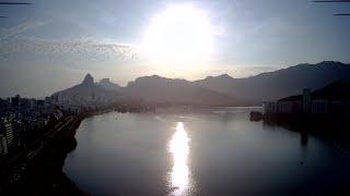 Meu primeiro drone MJX RC Bugs 7 pro voando na Lagoa Rodrigo de Freitas, Rio de Janeiro, RJ
