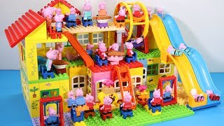 Peppa Pig House Creations With Water Slide Toys - Lego House Toys For Kids #2