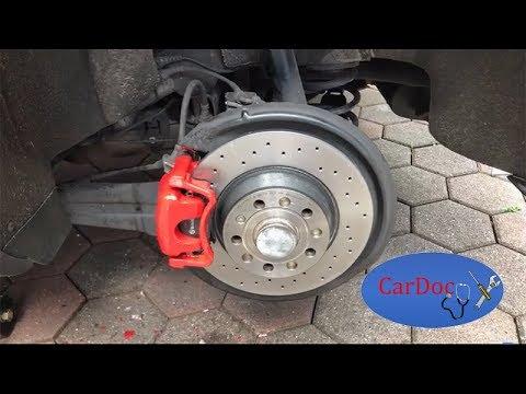 Bremsscheibe Bremsbeläge hinten wechseln Golf 5 GTI BREMBO