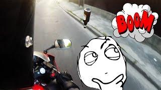 Пивасик на мотоцикле