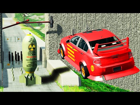 EXPERIMENT - Cars vs Nuclear Bombs #16 - BeamNG Drive   CrashTherapy