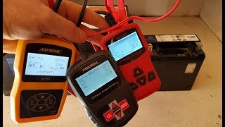 Comparison of 3 Scanners for Battery Foxwell BT100 Pro, AUTOOL BT-360 and Nexas NB300