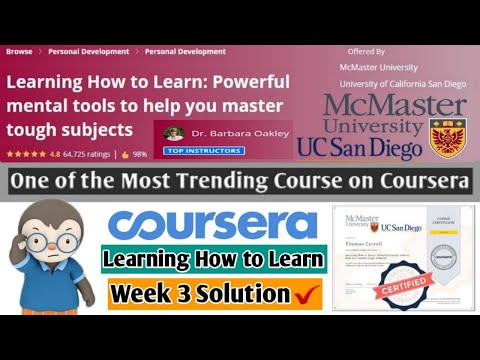 Learning How to Learn | Most Trending Coursera Course ... - YouTube