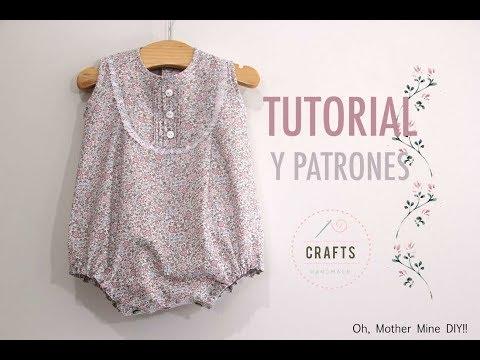 DIY Cómo hacer pelele para bebés (patrones gratis incluidos)