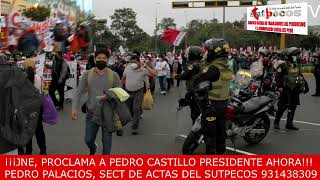 EL PUEBLO RESISTE EN EL DÌA DEL CAMPESINO FRENTE AL JNE
