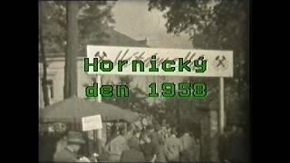 Hornický den 1958 u starého závodního klubu