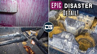 Deep Cleaning a DISASTER Salvaged Yukon | Insane Transformation and EPIC Disaster Detail!