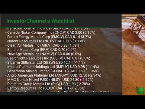InvestorChannel's Palladium Watchlist Update for Tuesday, October 27, 2020, 16:05 EST