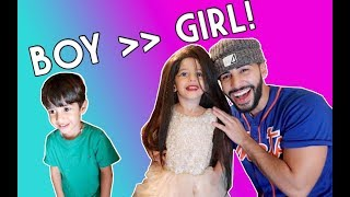 I TURNED HIM TO A GIRL *hilarious reaction*