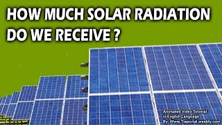 5- Solar Radiation Received  | Basics of Solar Energy