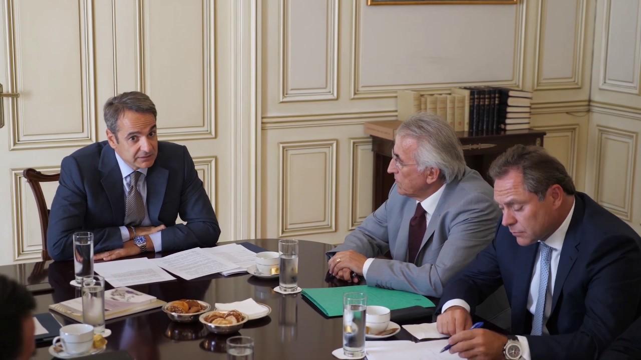Συνάντηση του Πρωθυπουργού Κυριάκου Μητσοτάκη με εκπροσώπους κοινωνικών εταίρων