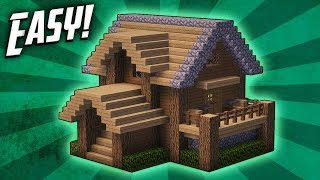 Minecraft: How To Build A Survival Starter House Tutorial (#4)