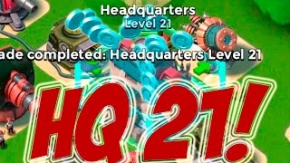 HEADQUARTERS LEVEL 21 UNLOCKED   Boom Beach   NEW UPDATE SHOCK MINE, HQ 21, SHIELD GENERATOR