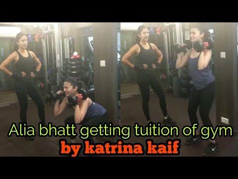 ALIA BHATT GETTING TUITION OF GYM BY KATRINA KAIF   SUNDAY BIG BOOTI....!