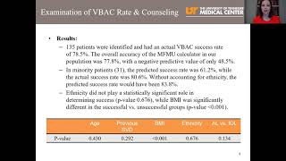SILVER: Examination of Vaginal Birth after Cesarean Section Success Rate and Counseling