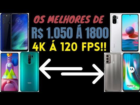 6 MELHORES CELULARES INTERMEDIRIOS para COMPRAR de R$ 1000  1800