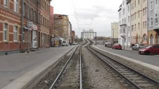 preview picture of video 'Straßenbahn Erfurt - Route 5'