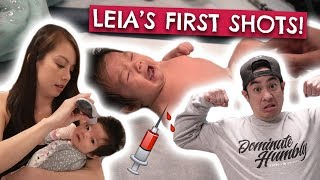 Baby Gets 2 Month Shots | Baby Gets Fever?!