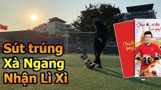 Thử Thách Bóng Đá Hậu Asian Cup 2019 thi sút xà ngang cùng Đỗ Kim Phúc nhận Lì Xì tết Việt Nam