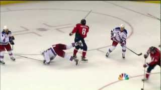 Alex Ovechkin questionnable hit on Daniel Girardi. May 5th 2012