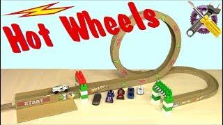 Как сделать Трек Hot Wheels Смертельное Кольцо🚕🚗🚓
