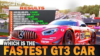 Which is the fastest GT3 car in Project Cars 2?
