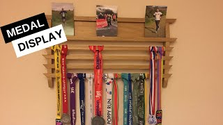 Running Medals Display Rack - Wood Project In Oak