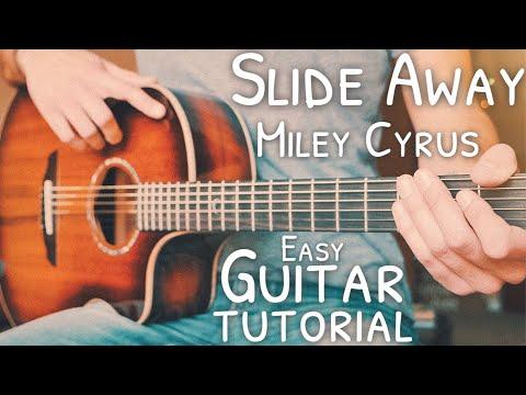 Slide Away Miley Cyrus Guitar Tutorial // Slide Away Guitar // Guitar Lesson #721