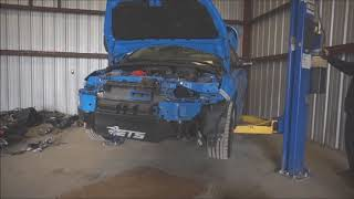 Oil Drain Flooded Ford Focus RS SALVAGE COPART Rebuild Part 3