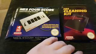 Opening Nintendo Nes New Old Stock! Cleaning Kit And Four Score :D