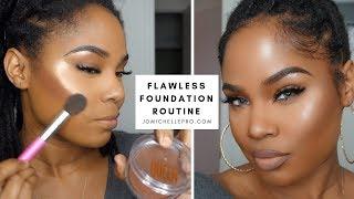 flawless foundation routine.   #jomichellepro   Loc Bun Tutorial