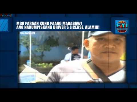 [DZRH]  PAANO MABAWI ANG KUMPISKADONG DRIVER'S LICENSE