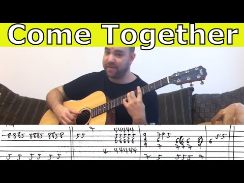 Fingerstyle Tutorial: Come Together - W/ TAB (Guitar Lesson) Mp3