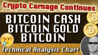 'Crypto Carnage Continues' BITCOIN CASH : BITCOIN GOLD : BITCOIN CryptoCurrency Technical Analysis